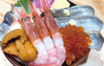 イワシ海鮮5色丼