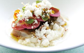 北海道タパス& ブリのコンフィと根菜のマリネ タプナード